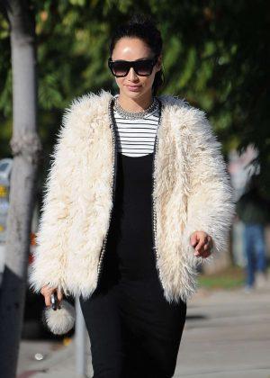 Cara Santana in Fur Coat out in West Hollywood
