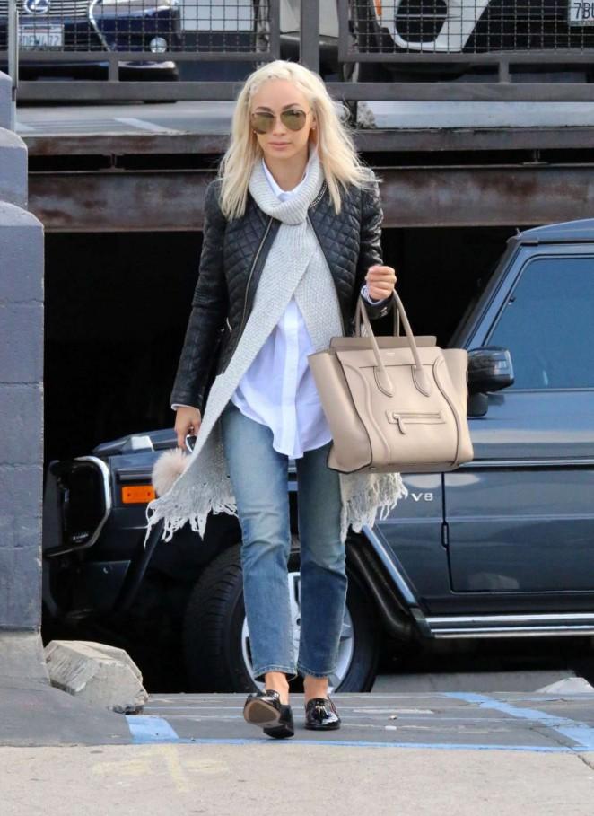 Cara Santana in Jeans Leaves Nail Salon in Los Angeles