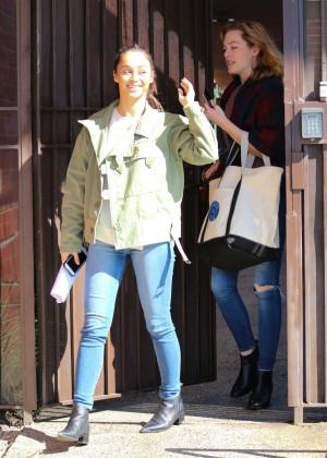 Cara Santana in Jeans Leaves the studio in Los Angeles