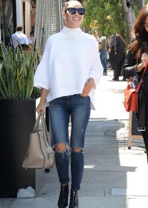 Cara Santana in Jeans Out in LA