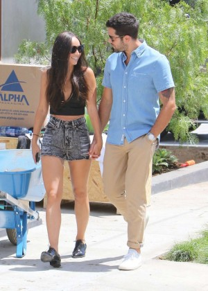 Cara Santana in Jeans Shorts -01