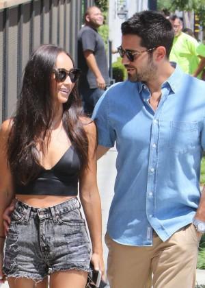 Cara Santana in Jeans Shorts -04