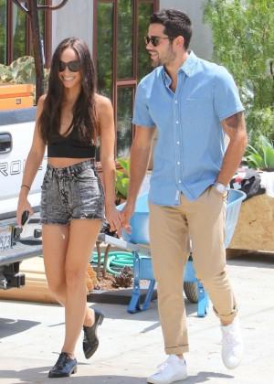 Cara Santana in Jeans Shorts -05