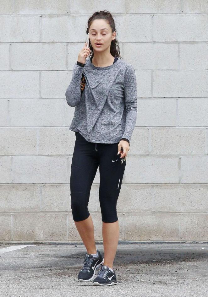 Cara Santana in Leggings at Gym in LA