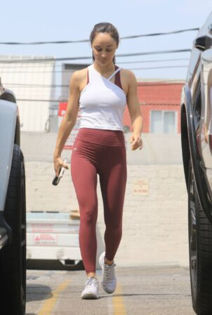 Cara Santana - In leggings spotted leaving the gym in West Hollywood