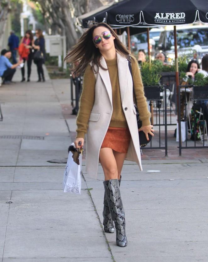 Cara Santana in Mini Skirt -05