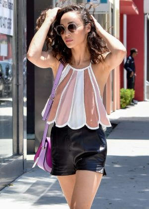 Cara Santana in Shorts - Shopping in West Hollywood