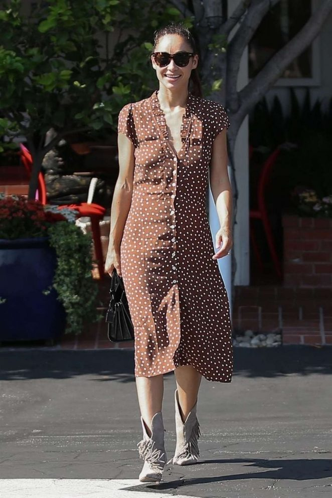 Cara Santana in Summer Dress - Out in Beverly Hills