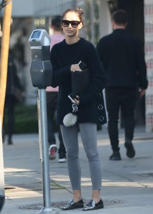 Cara Santana in Tights out shopping in West Hollywood