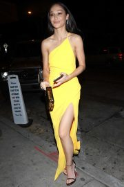 Cara Santana in Yellow at Craig's Restaurant in West Hollywood