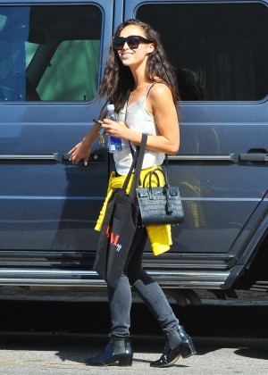 Cara Santana - Leaves an office building in West Hollywood