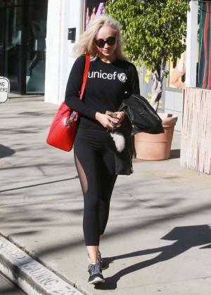 Cara Santana - Leaves Tracy Anderson Studios in Studio City