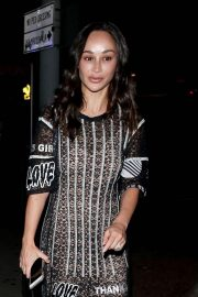 Cara Santana - Leaving Delilah Restaurant in West Hollywood