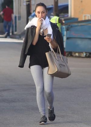 Cara Santana in Spandex Leaving the gym in LA