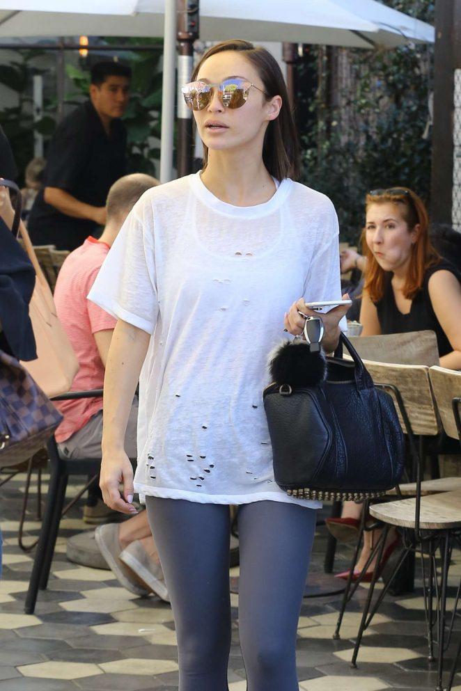 Cara Santana Leaving Zinque at Melrose Ave in West Hollywood