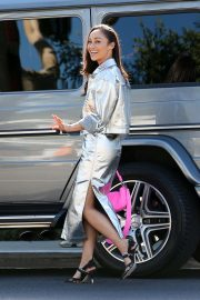 Cara Santana looks stylish in a silver ensemble in LA