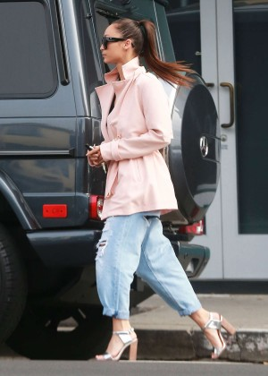 Cara Santana in Ripped Jeans -14