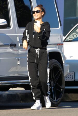 Cara Santana - Picking up her dog in West Hollywood