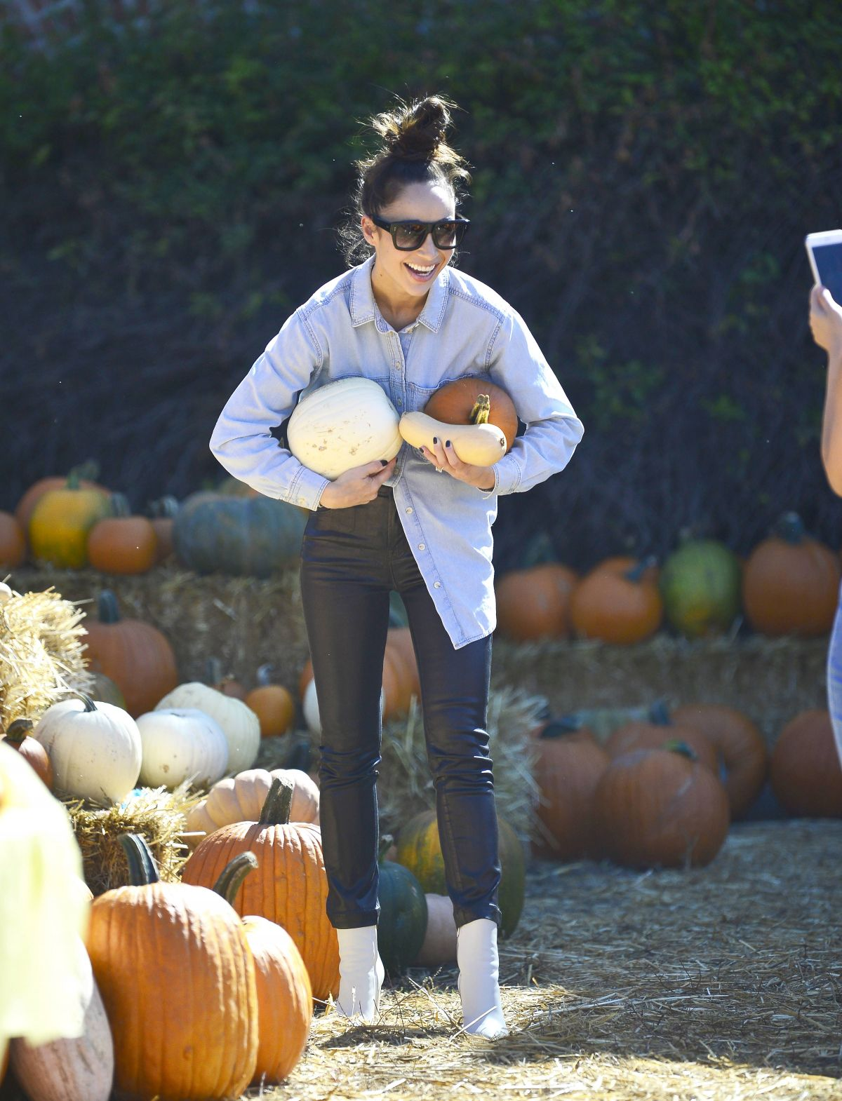 Cara Santana -Seen at Pumpkin Patch In Los Angeles
