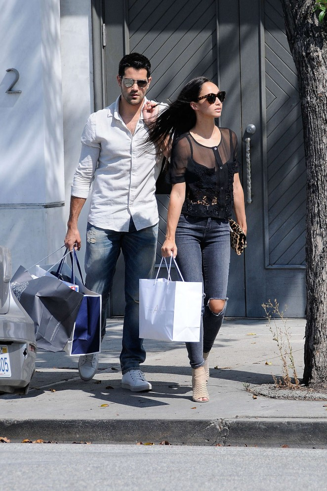Cara Santana in Tight Jeans Shopping in LA