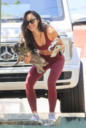 Cara Santana - Shows off her red hot abs after gym session in Los Angeles