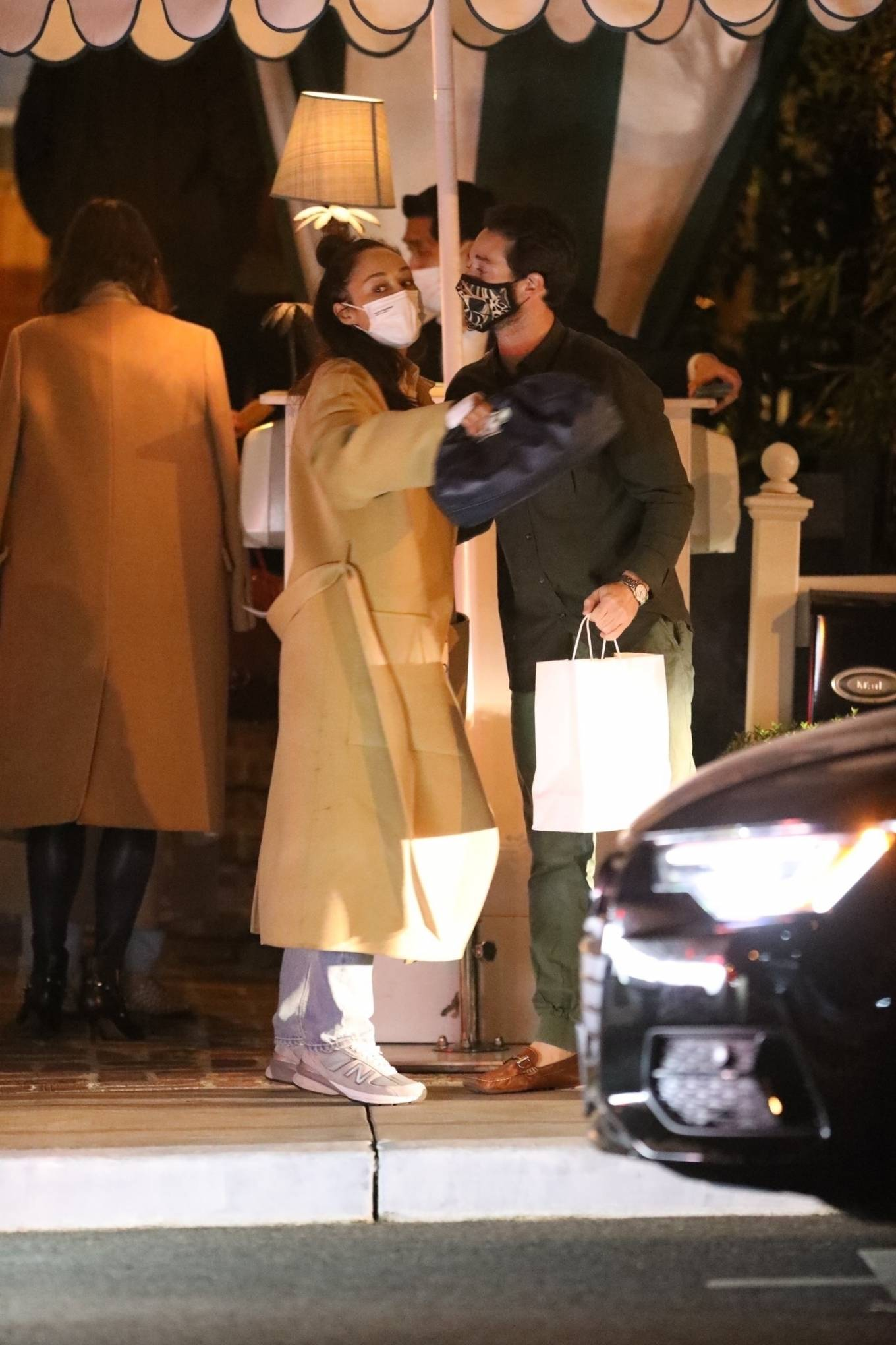 Cara Santana - Spotted with a mystery man at San Vicente Bungalows in West Hollywood