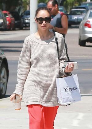 Cara Santana - Visiting a nail salon in Beverly Hills