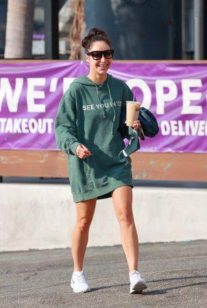 Cara Santana - Wears 21 Hoodie as seen after the gym in Los Angeles