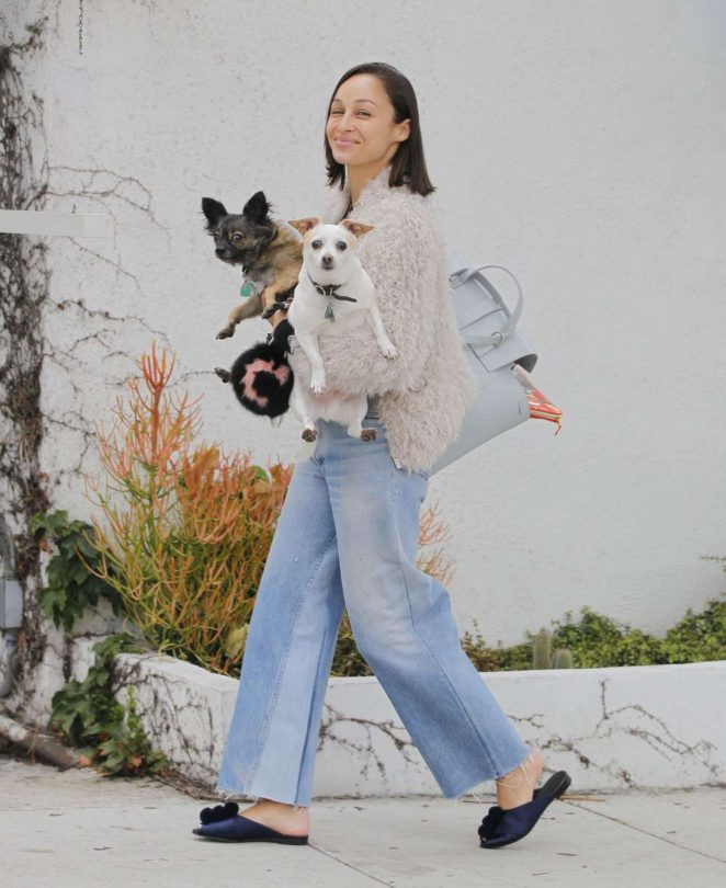 Cara Santana With Her Dogs out in Beverly Hills