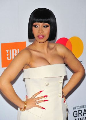 Cardi B - 2018 Pre-Grammy Gala and Salute to Industry Icons with Clive Davis in NY