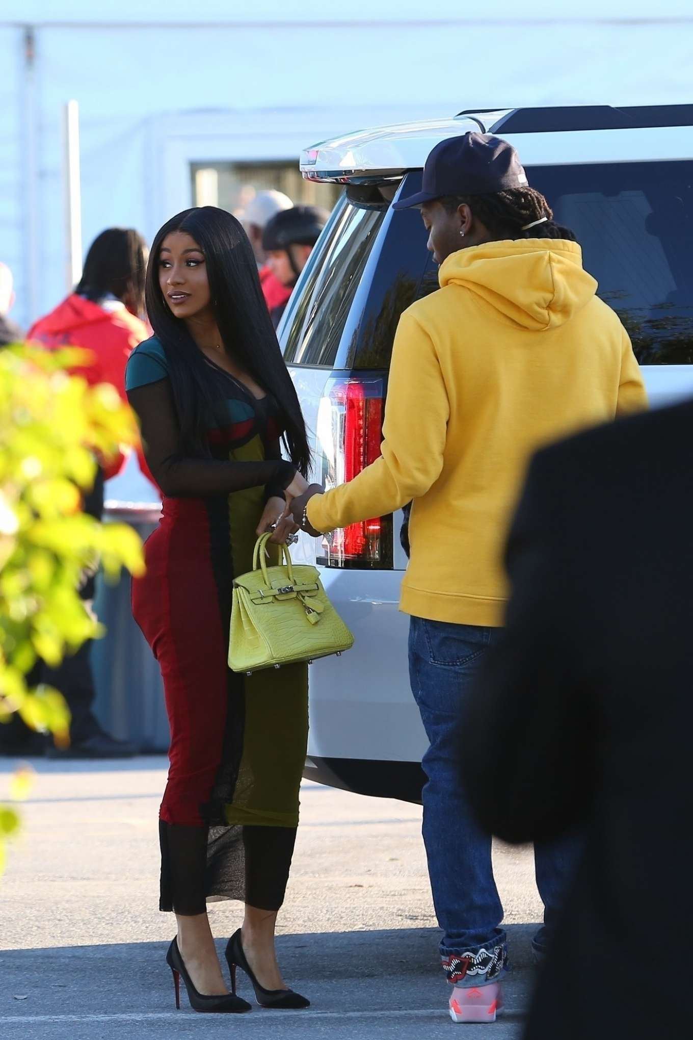 Cardi B - Arrives at the Super Bowl in Miami