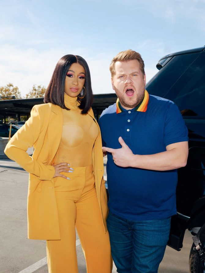 Cardi B - Carpool Karaoke With James Corden Promotional Photos