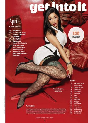 Cardi B - Cosmopolitan US Magazine (April 2018)