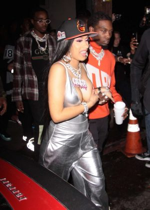 Cardi B - Leaving Argyle nightclub in Los Angeles
