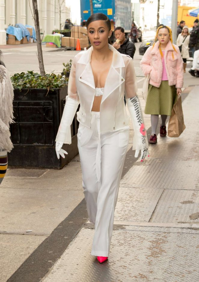 Cardi B out and about in Soho