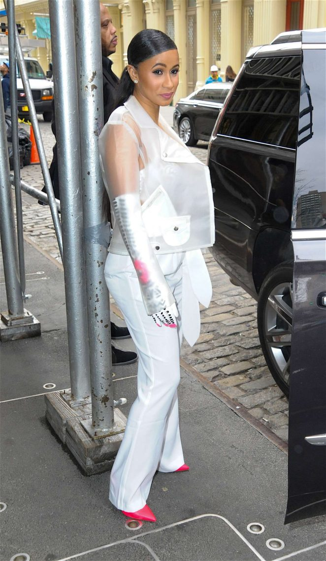 Cardi B out in New York -05