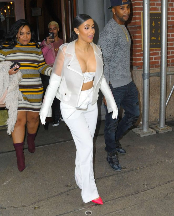 Cardi B out in New York -13