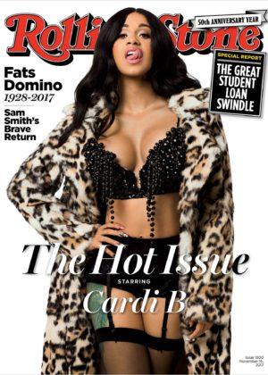Cardi B - Rolling Stone (November 2017)