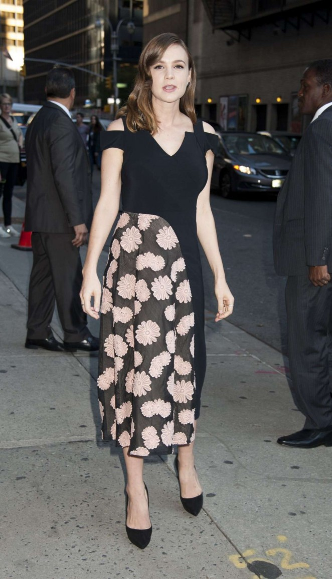 Carey Mulligan - Arrives at 'The Late Show With Stephen Colbert' in NY