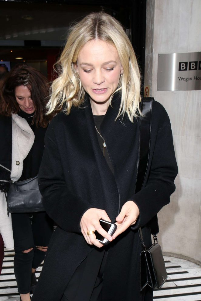 Carey Mulligan at BBC Radio in London