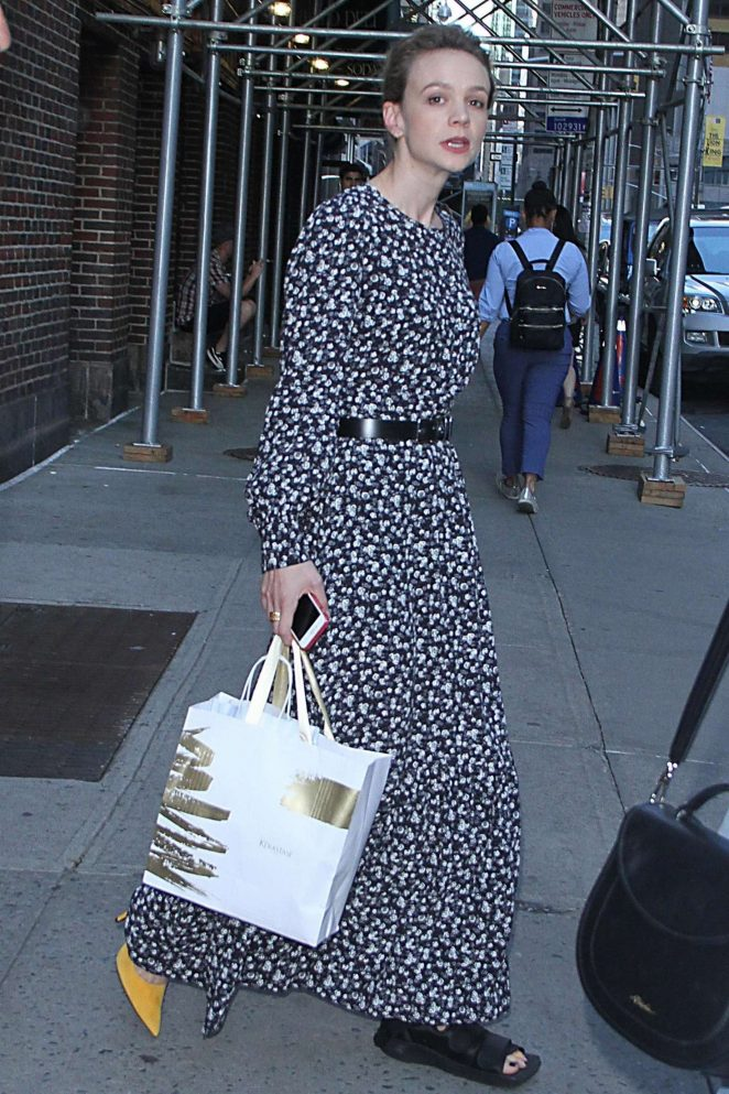 Carey Mulligan at The Late Show with Stephen Colbert in New York City