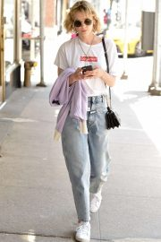 Carey Mulligan in Jeans - Out in New York