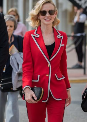 Carey Mulligan in Red Suit out in Cannes