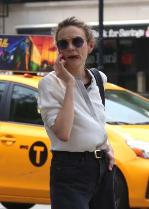 Carey Mulligan out in New York