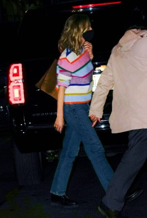 Carey Mulligan - Seen after her SNL performance in New York