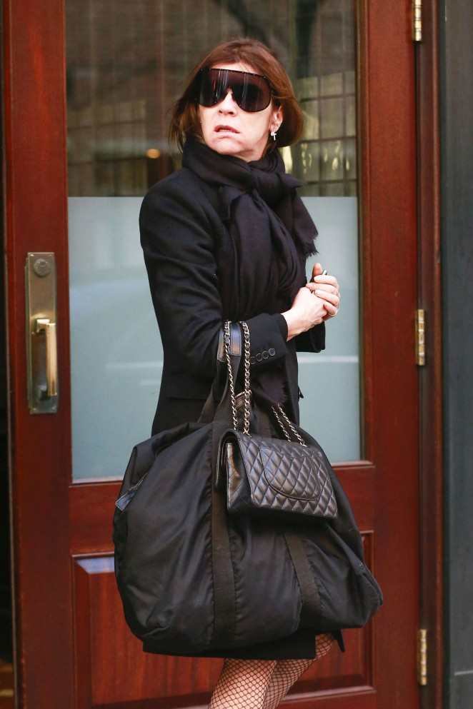Carine Roitfeld - Leaving Greenwhich Hotel in New York