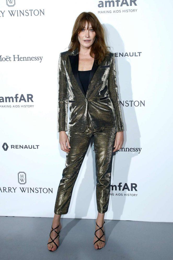 Carla Bruni - 2017 amfAR Gala Haute Couture Fashion Week in Paris