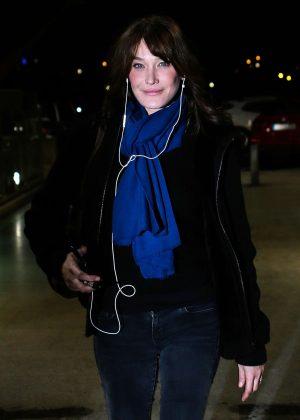 Carla Bruni at Airport in Madrid