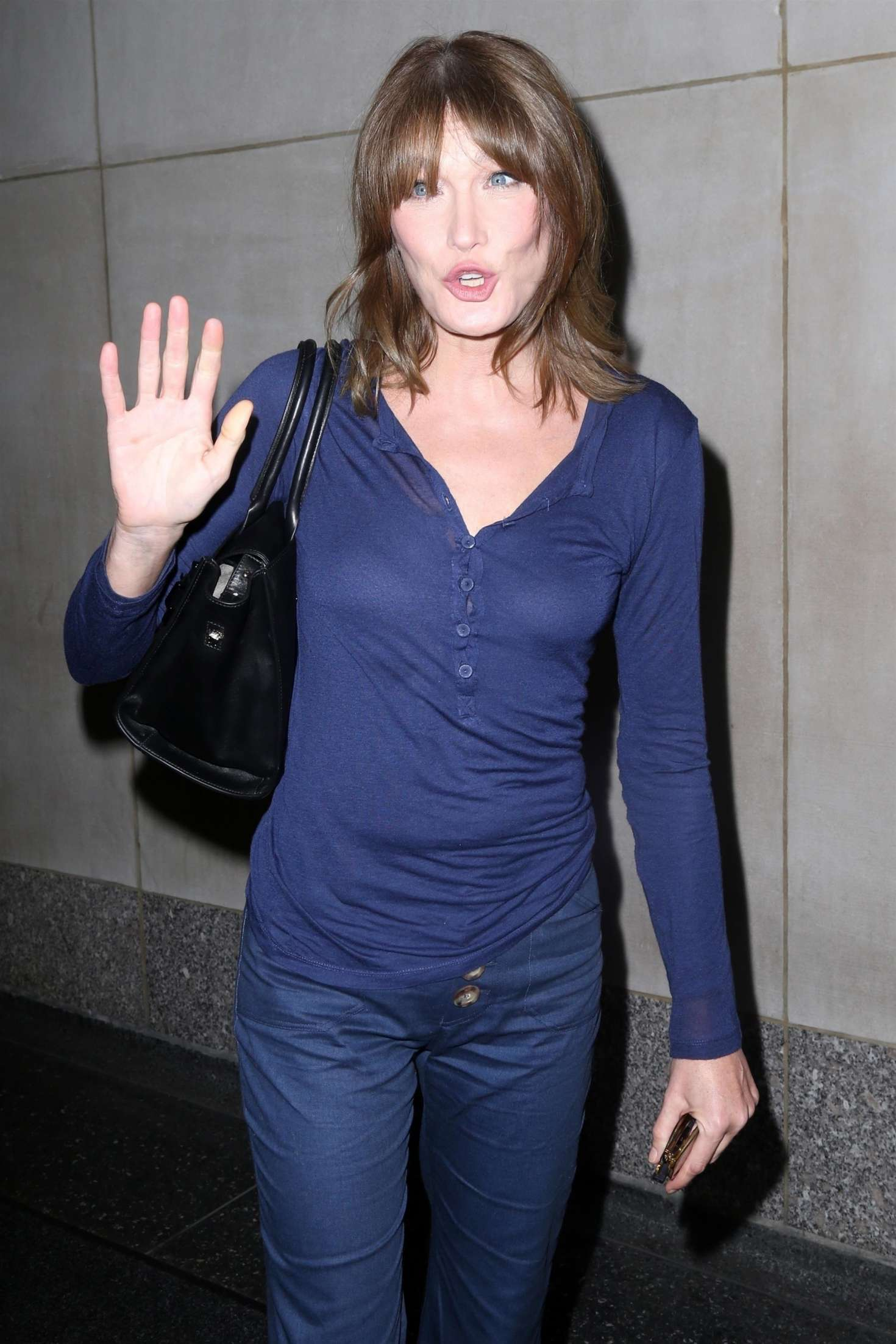 Carla Bruni on the 'Today' show in New York City