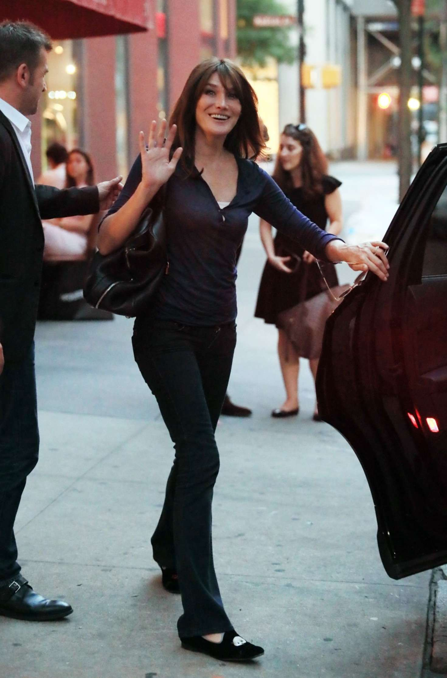 Carla Bruni Out in New York